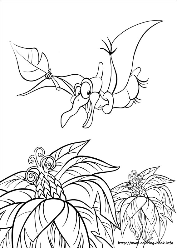 The Land Before Time Coloring Pages - TheLandBeforeTime.org